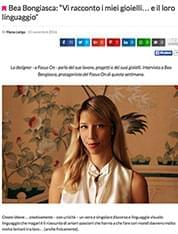 Interview on fashiontime.it