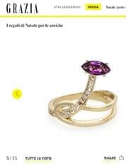 Gloriosa Lily Ring from FLORICULTURAL Collection seen on GRAZIA.IT !
