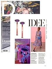 Tiger Lily Rose Gold Earrings On D LA REPUBBLICA