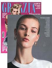 Honeysuckle Earrings from Floricultural collection on Grazia magazine